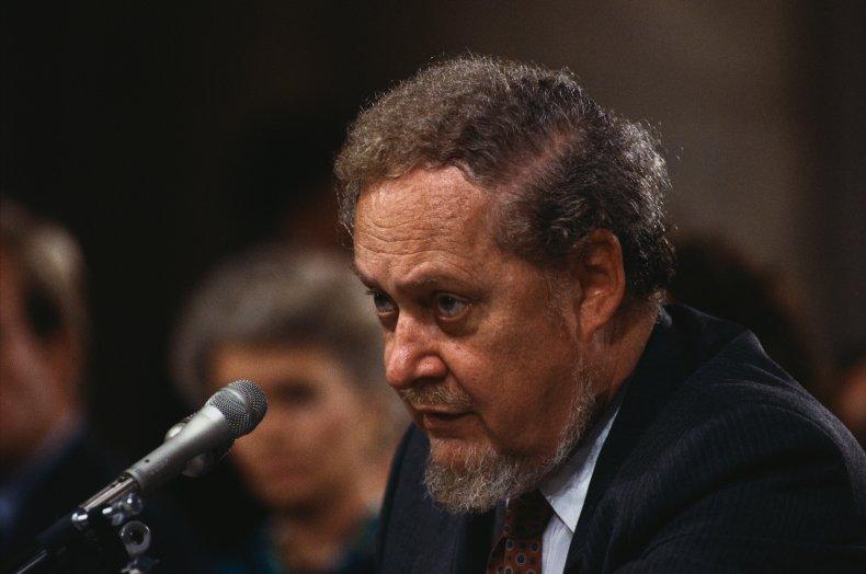 Robert Bork during his failed Supreme Court