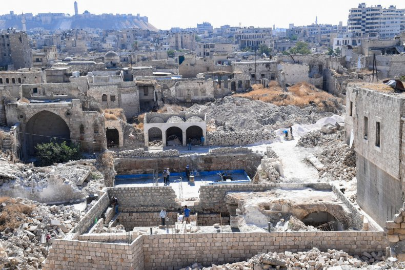 syria, aleppo, old, city, reconstruction