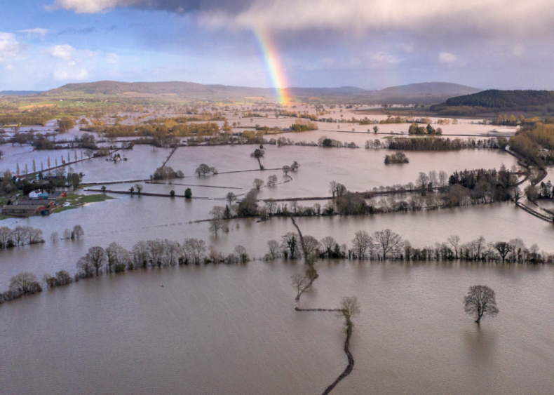 Storm Dennis causes record-breaking floods in the United Kingdom