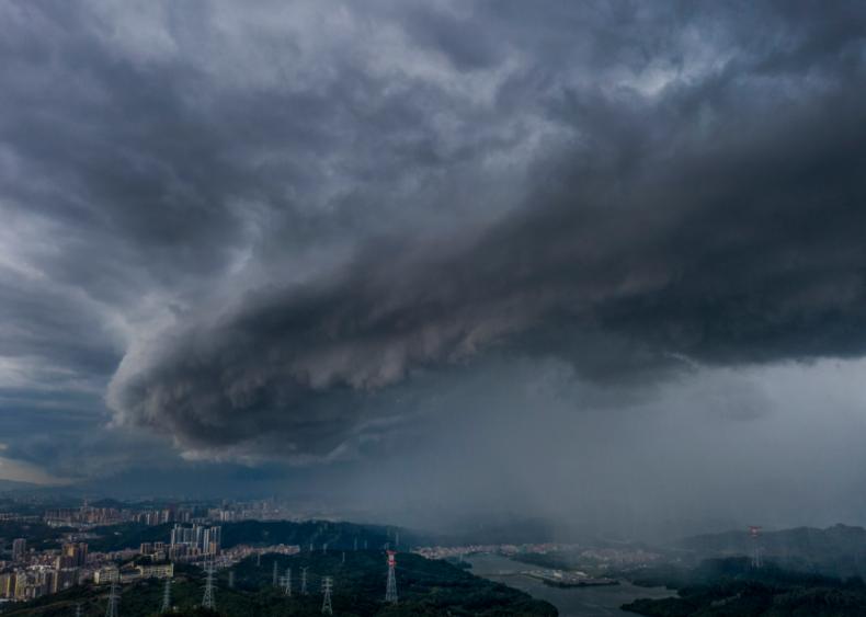 Typhoon Higos hits Shenzhen Guangdong
