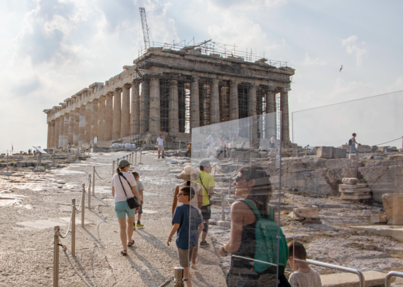 Safety measures at the Acropolis in Athens
