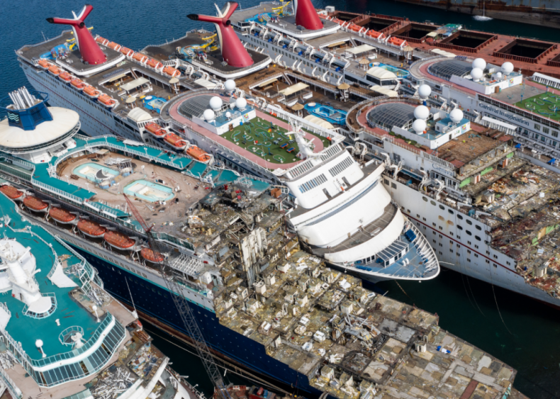 Cruise ships sold for scrap