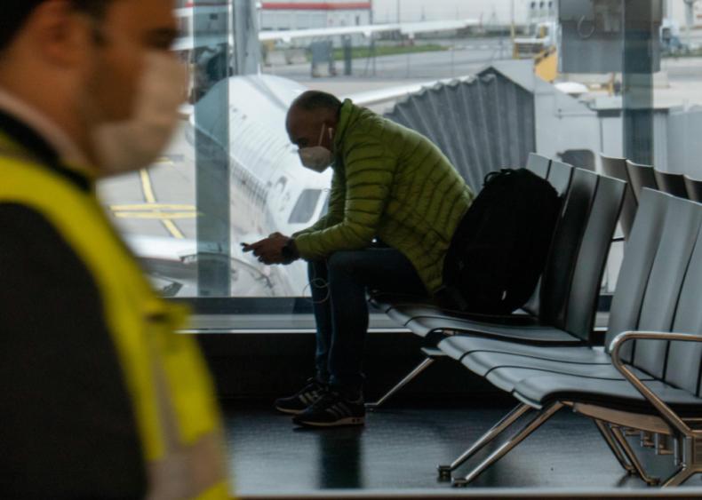 Airport scene in Vienna