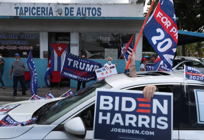 Trump Biden Florida parade