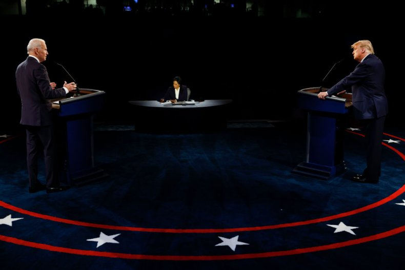 Trump and Biden at the Final Debate