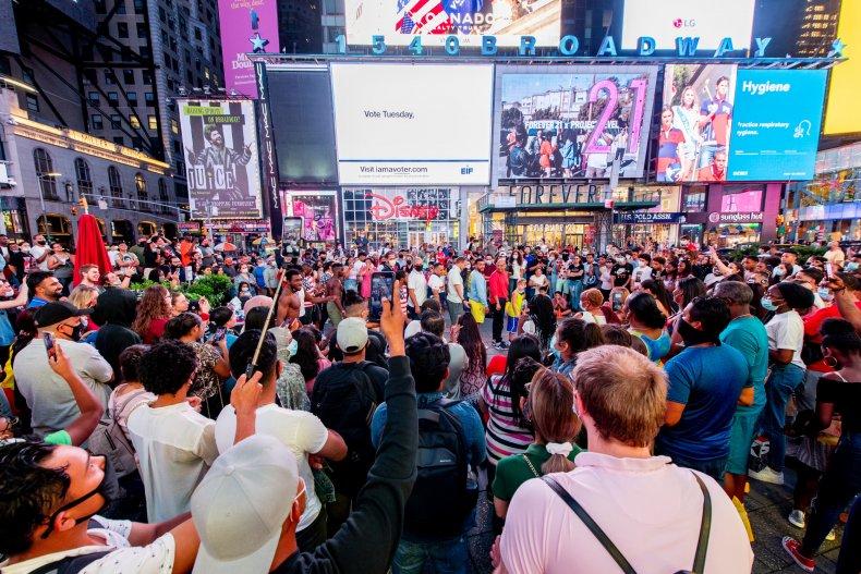 Times Square, New York City, September 2020