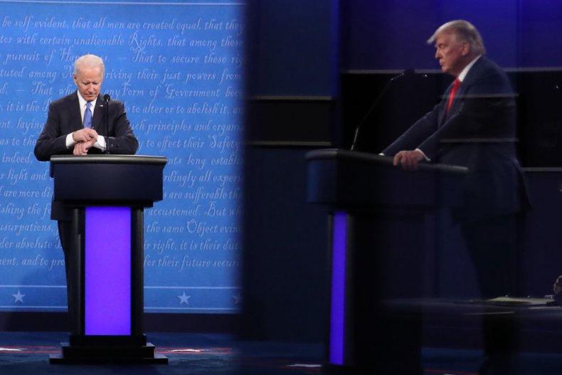 Biden Checks His Watch at the Debate