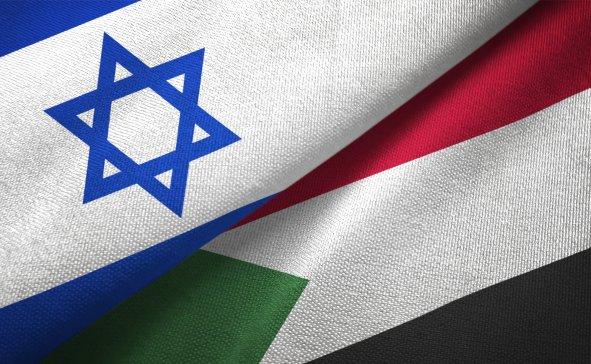 israel, sudan, flags