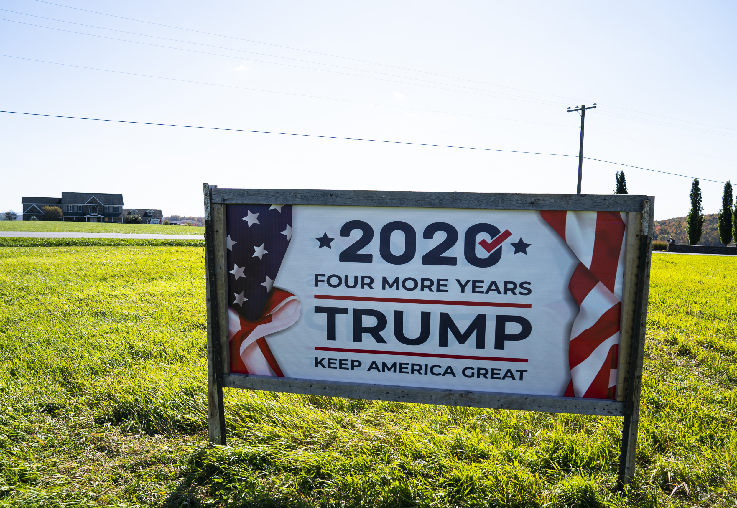 Someone Risked Electrocution to Hang a 'Trump 2020' Sign From Power Lines in Massachusetts thumbnail