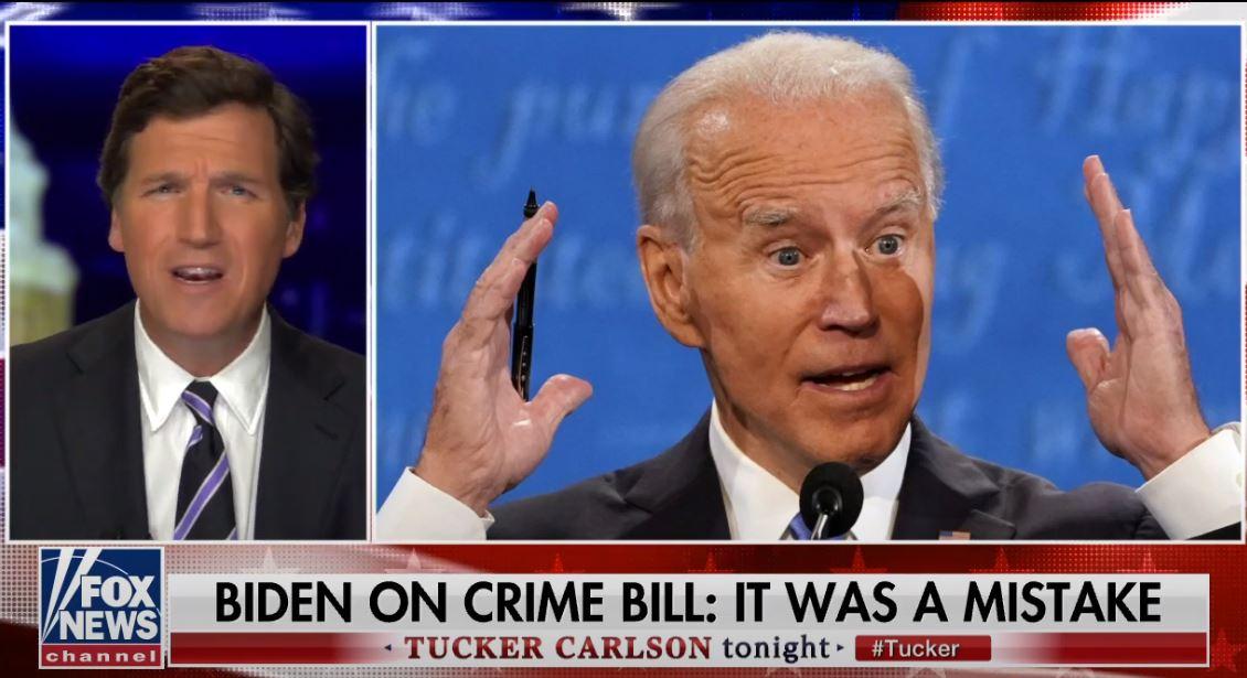 "Tucker Carlson, Al Sharpton defend Biden role in 1994 crime bill: Black Caucus majority supported ""mistake"""