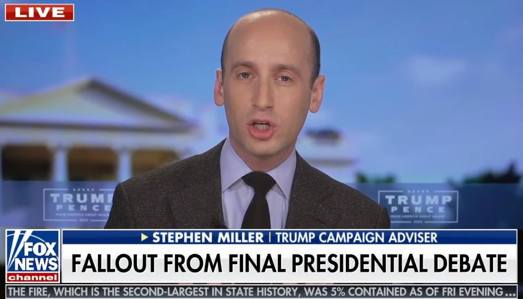 "Trump adviser Stephen Miller says ""millions of illegal immigrants"" will ""bankrupt Medicare"" under Biden plan"