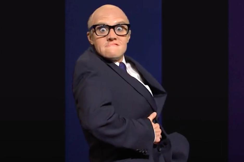 """Kate McKinnon returns as Rudy Giuliani on SNL to lampoon """"Borat"""" scene"""