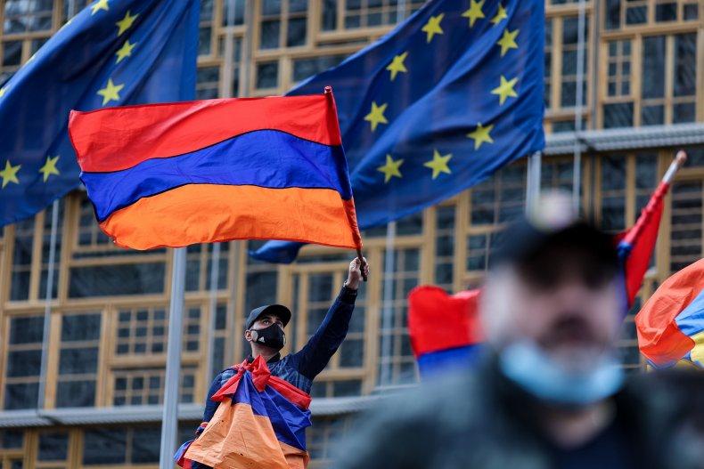 armenia flag nagorno-karabakh trump