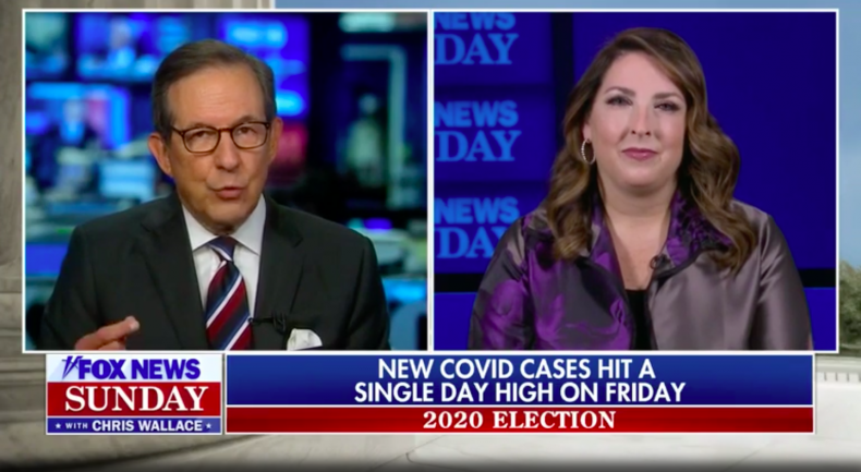 Chris Wallace and Ronna McDaniel
