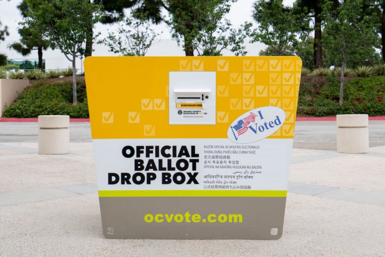 ballot drop box california