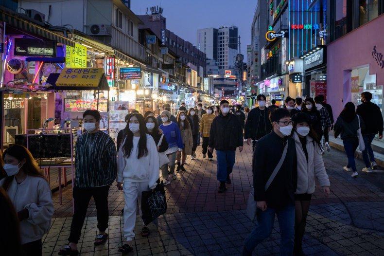 South Korea Hongdae Seoul October 2020