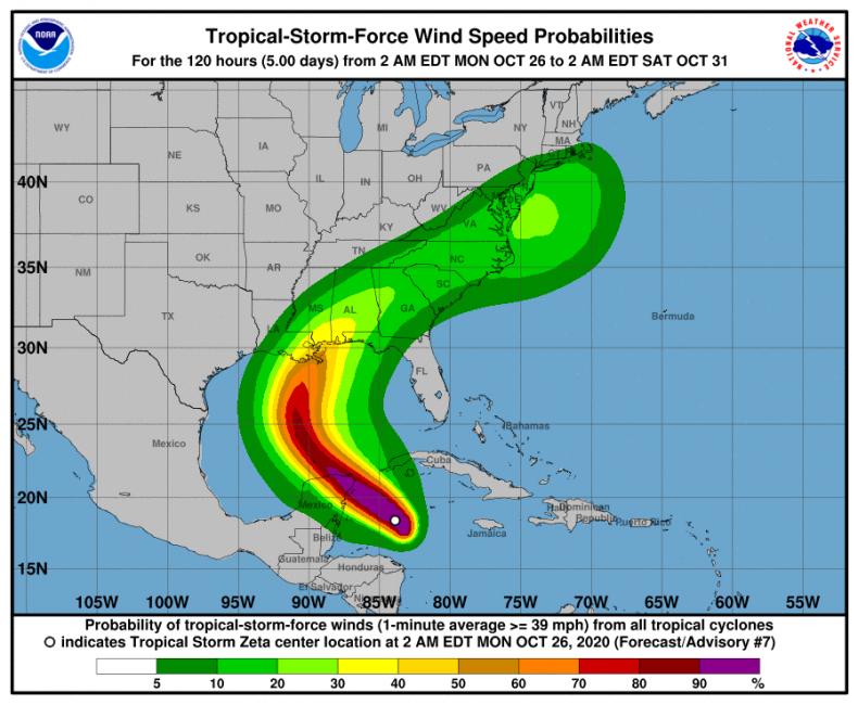 tropical storm zeta record hurricane season