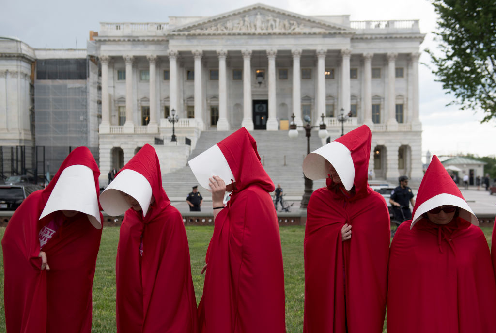 People across U.S. wear 'Handmaid's Tale' cloaks to protest Amy Coney Barrett's Supreme Court nomination