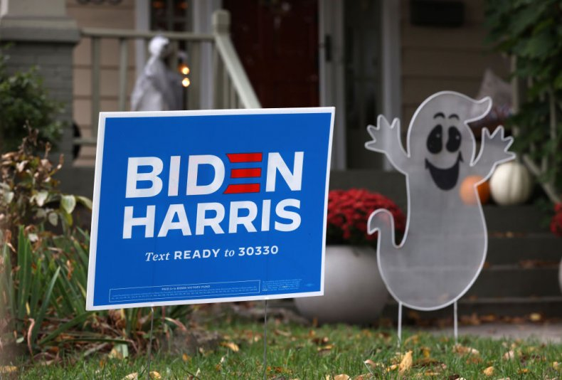 Joe Biden yard sign