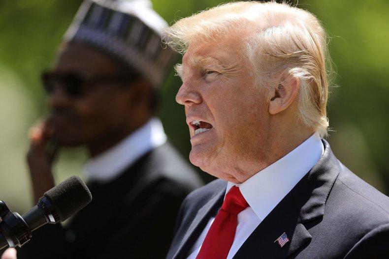 Donald Trump and Nigerian President Buhari