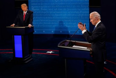 Trump and Biden at the Final Debate