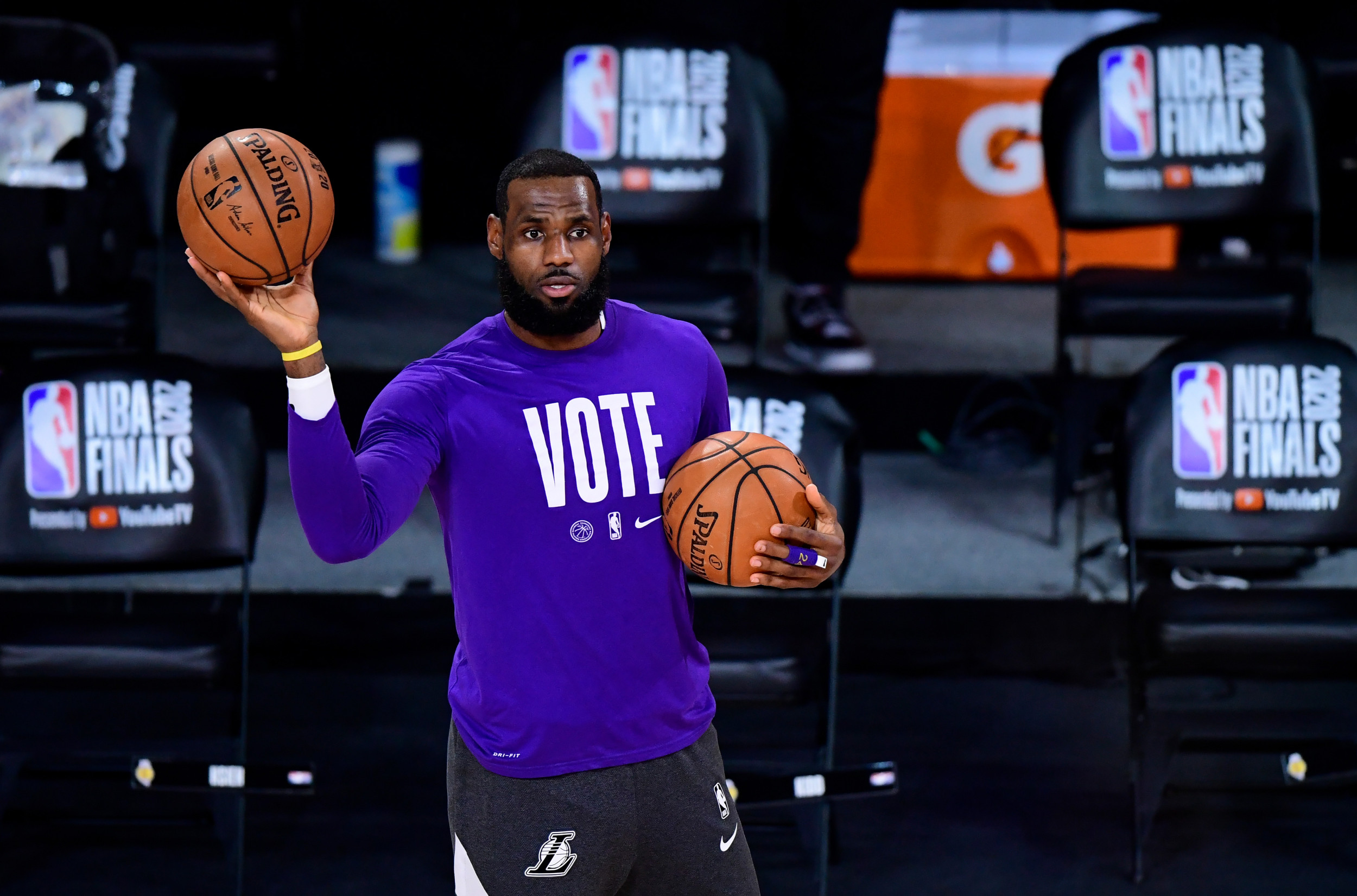 LeBron urges African Americans to vote as Trump gains with Black voters