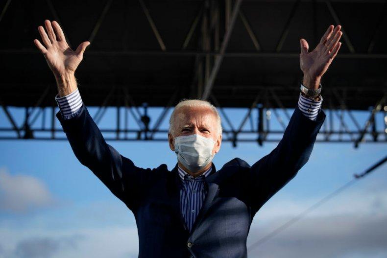Democratic Presidential Nominee Joe Biden Gestures