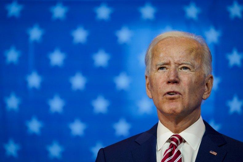 Joe Biden in Wilmington, Delaware, October 2020