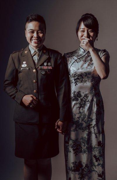 Taiwan same sex army wedding