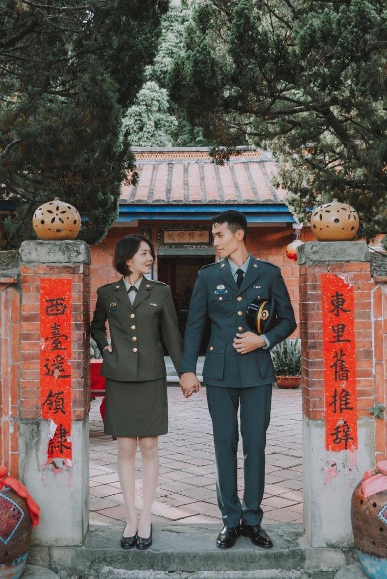Taiwan military wedding
