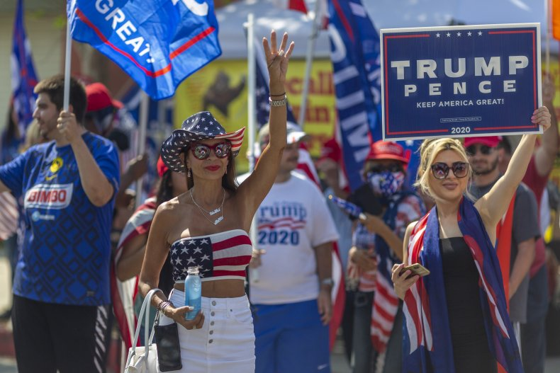 Donald Trump supporters rally California 2020