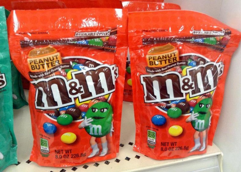 #9. Peanut butter M&M's