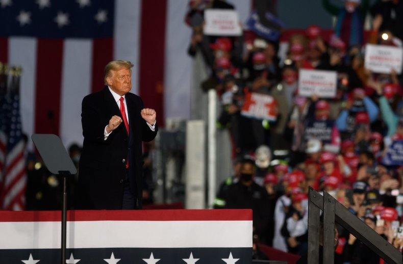 President Trump campaigning in Pennsylvania
