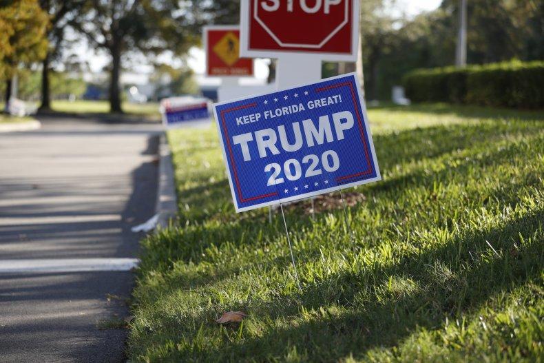 Trump campaign sign Florida