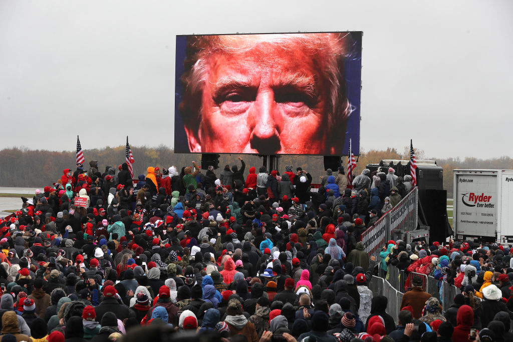 Donald Trump Lansing rally video prompts '1984' comparisons