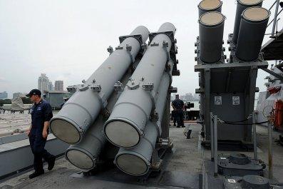 US Navy harpoon missiles