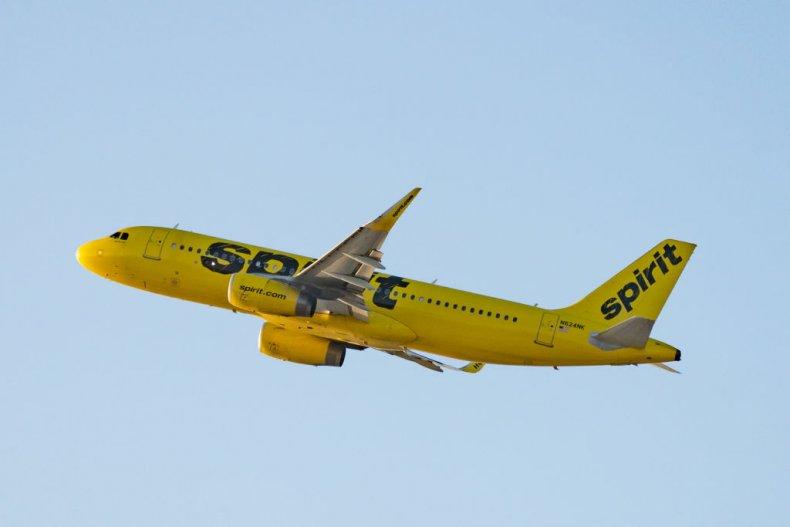 Plane Spirit Airlines