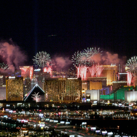 Jan. 1: New Year's Eve celebrations in Las Vegas