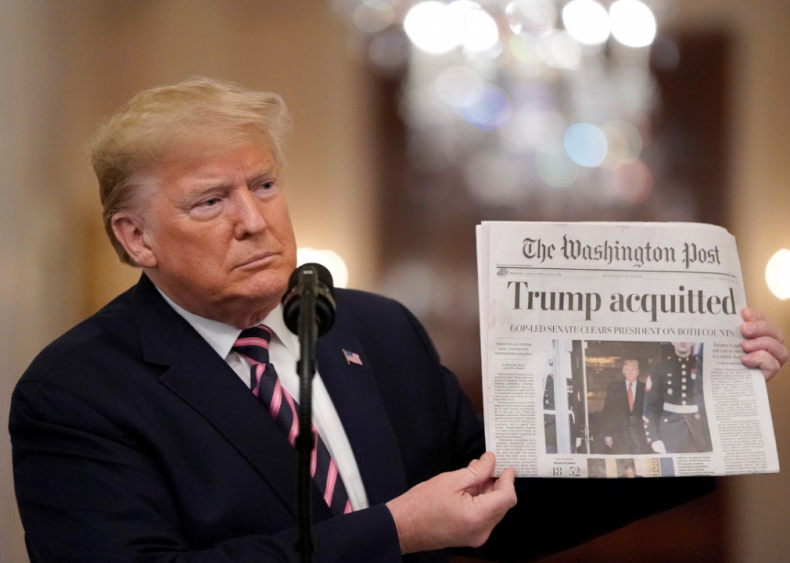 Feb. 6: President Trump acquitted