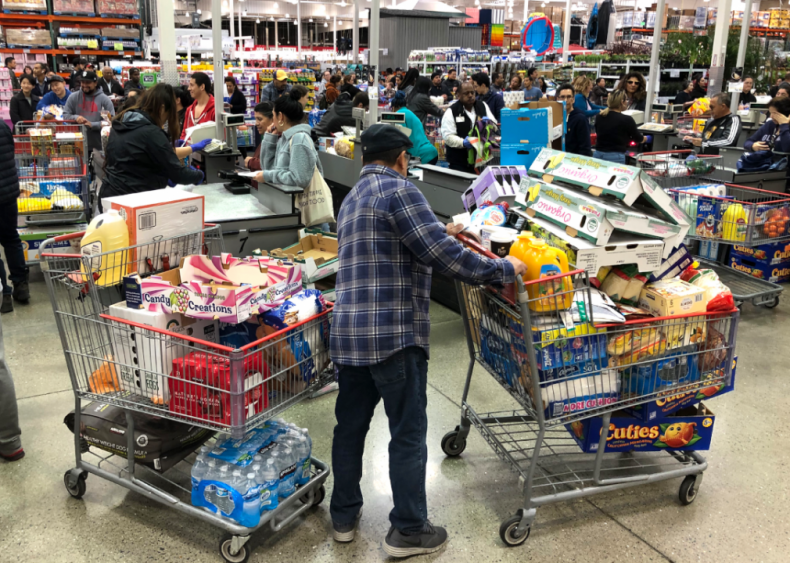 March 13: Stocking up on food and toilet paper