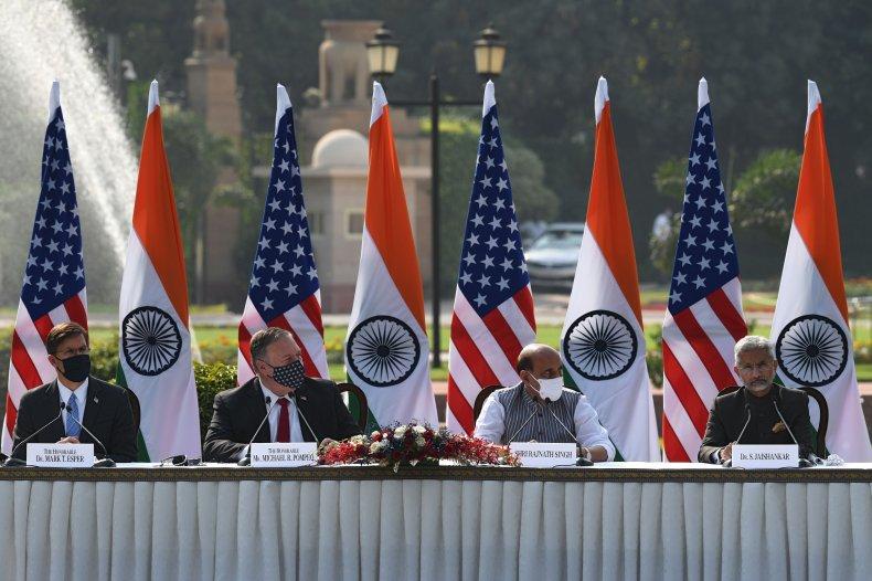 esper, pompeo, singh, jaishankar, india, us