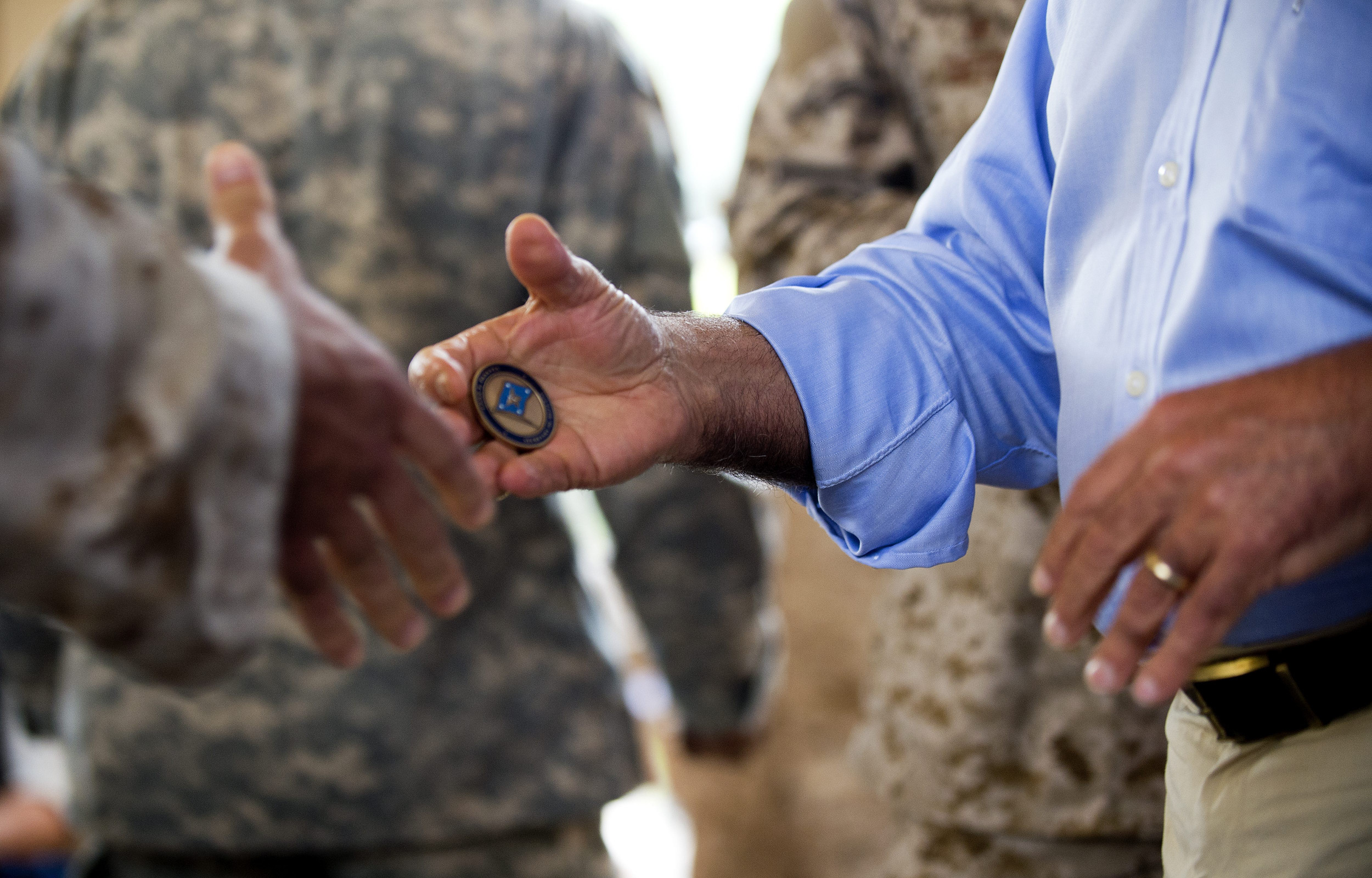 Joe Biden gives Marine's mother command coin in viral video