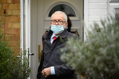 Jeremy Corbyn at home before EHRC report
