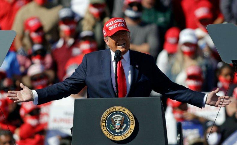 President Donald Trump in Arizona