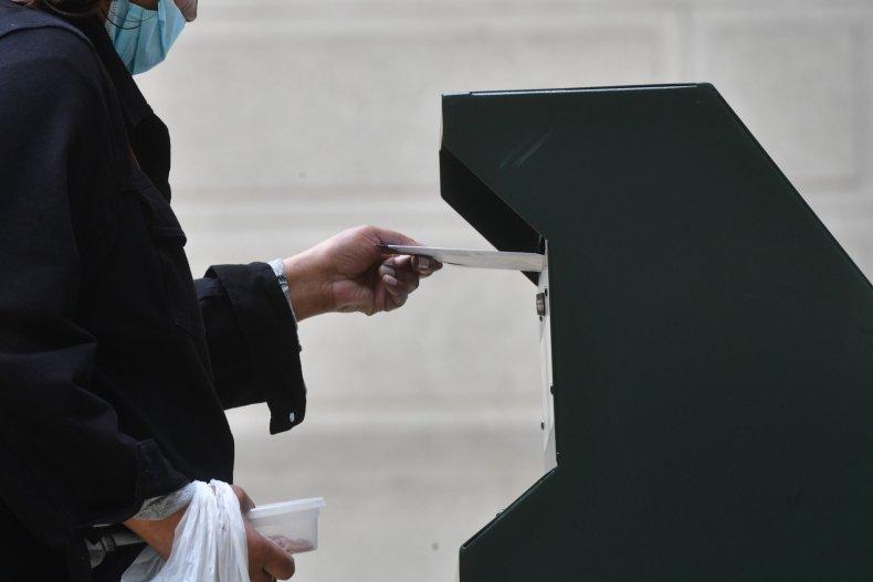 Ballot Drop Box in Philadelphia