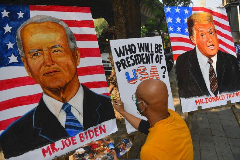 Trump Biden Painting