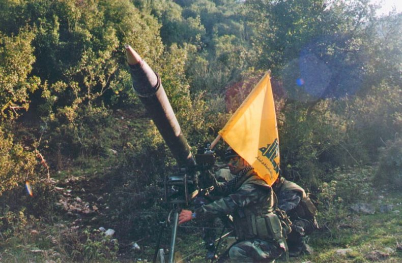 hezbollah, radwan, unit, training, flag, rocket