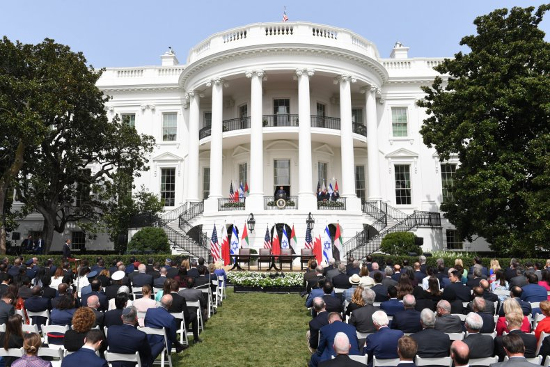 Abraham Accords signing ceremony at White House