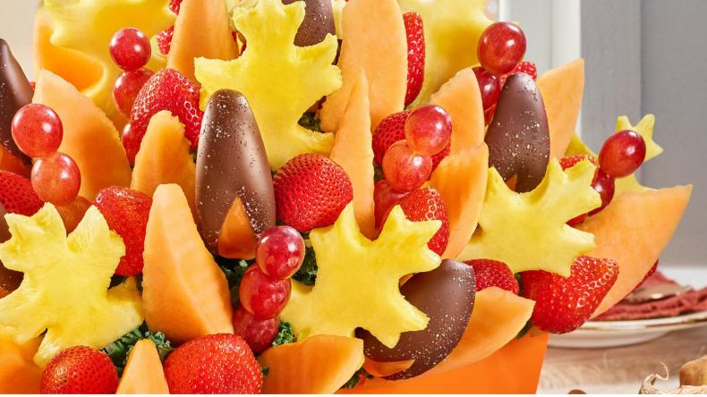 fruit and chocolate arrangement