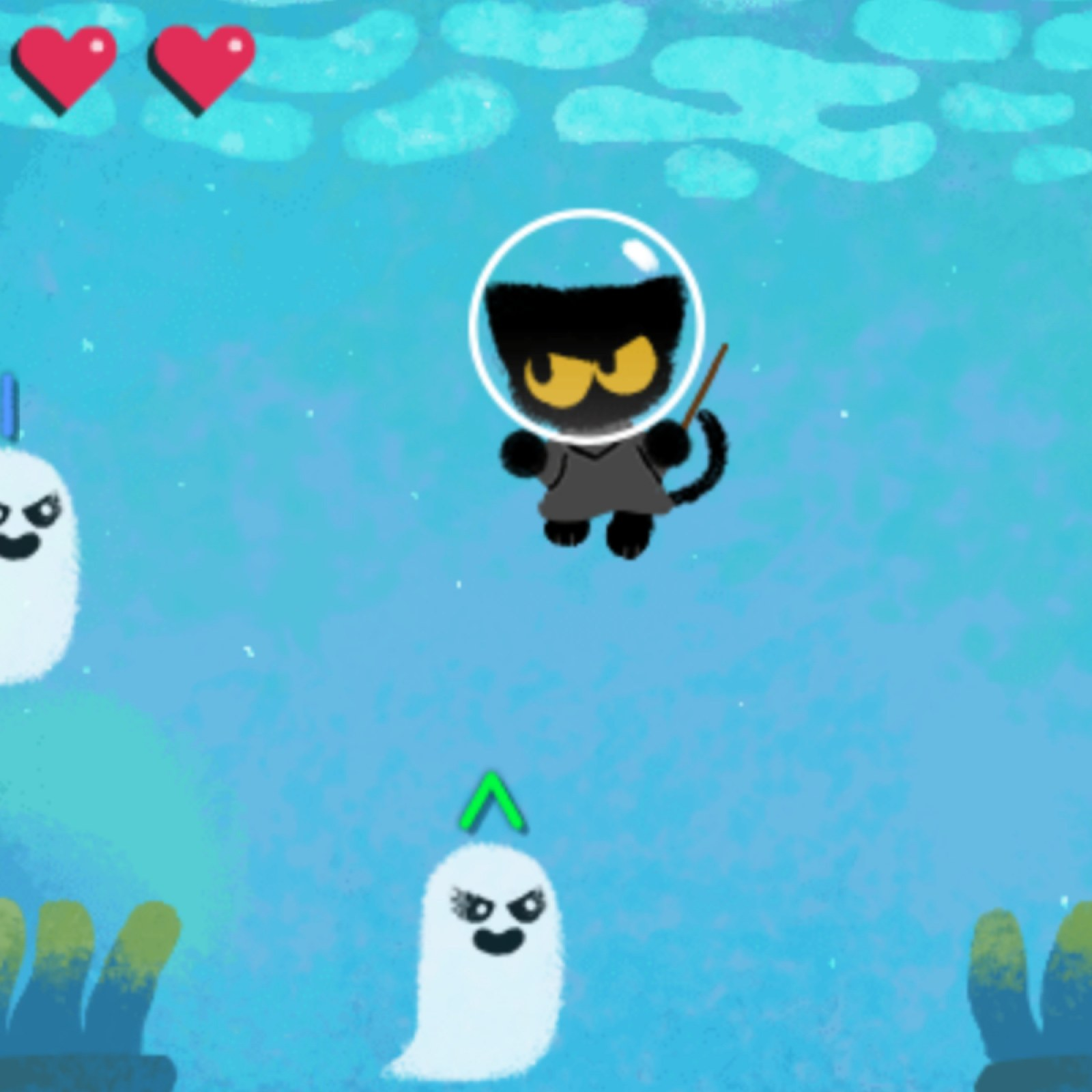 halloween google doodle brings back momo for new magic cat academy game magic cat academy game